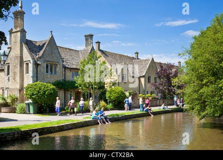 Bourton on the Water Cotswolds Gloucestershire England UK GB EU Europe - Stock Photo