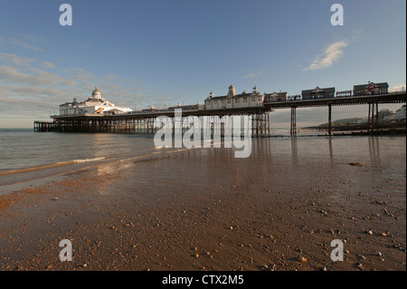 Eastbourne Pier at low tide in East Sussex, England, UK. - Stock Photo