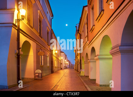 Zamosc, historic houses on the Old Market, Unesco, Poland, Europe - Stock Photo
