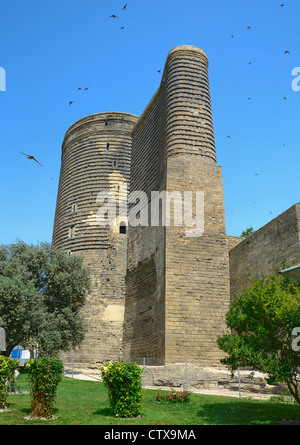 Maiden Tower in the Old City. Baku. Azerbaijan. - Stock Photo