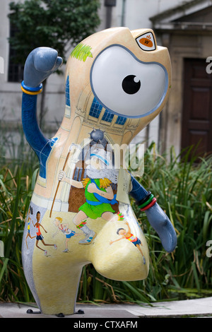 Olympic mascot Wenlock in and around London for the London 2012 Olympic Games - Stock Photo