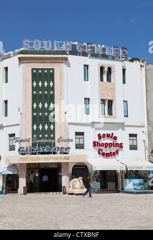 Chain store of souvenirs with fixed prices Soula center in Sousse, Tunisia, Africa - Stock Photo