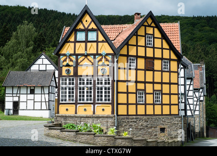 Westphalian open-air museum, or Freilichtmuseum in Hagen, Ruhrgebeit, North Rhine-Westphalia, Germany - Stock Photo