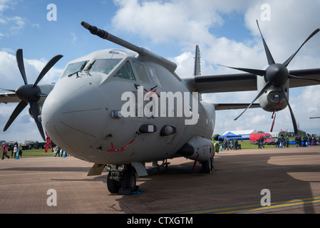 Alenia C-27J Spartan Italian military aircraft on show at RAF Fairford 2012 - Stock Photo