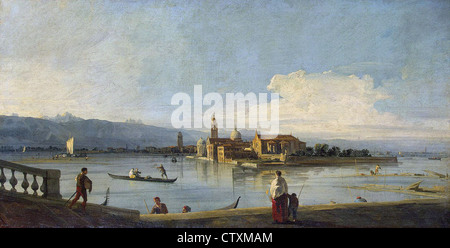 Canaletto Venice, View of the Isles of San Michele, San Cristoforo and Murano from the Fondamenta Nuove Hermitage - Stock Photo