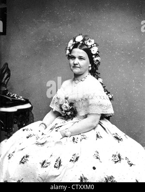 MARY TODD LINCOLN (1818-1882) wife of Abraham Lincoln photographed by Mathew Brady - Stock Photo