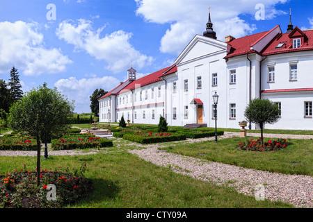 The historic monastery with a garden in Suprasl, Poland. - Stock Photo