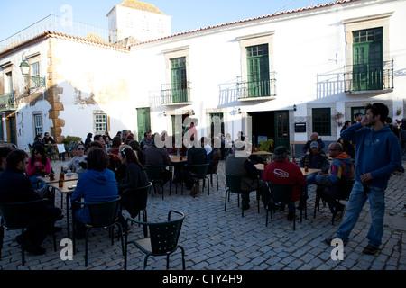 Taverna Da Se pub bar Faro Algarve Portugal - Stock Photo