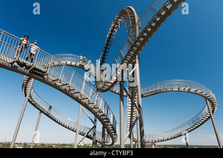 'Turtle and Tiger' pedestrian roller coaster sculpture on Magic Mountain in Duisburg Germany Stock Photo