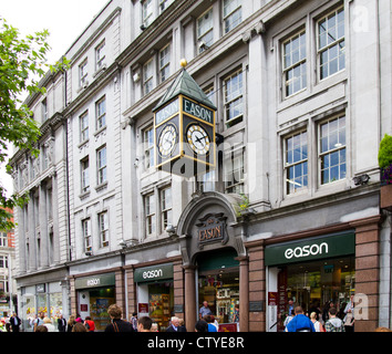 Eason's Clock, O'Connell Street Dublin Ireland - Stock Photo