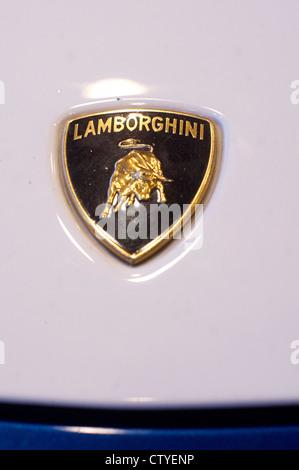 Lamborghini Emblem Logo World Famous Luxury Car Maker Stock Photo