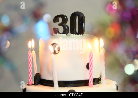 Birthday Cake Candles 30 30th Stock Photo 49777855
