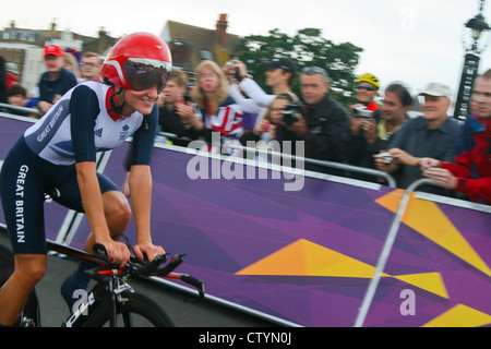 Lizzie Armitstead, Women's Time Trial, London 2012 Olympics. Photo by Kim Craig. - Stock Photo