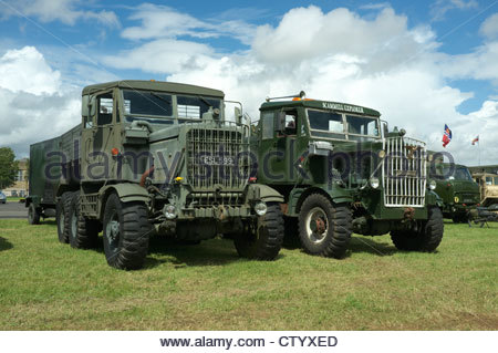 Scammell Explorer military recovery vehicles, at the Gloucestershire Steam & Vintage Extravaganza, UK. - Stock Photo