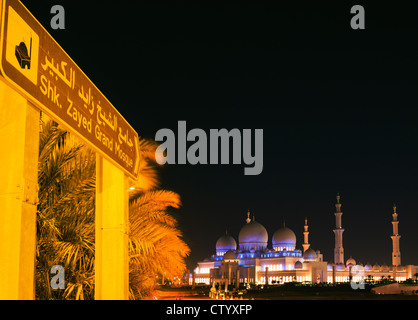 Sign in front of Grand Mosque - Stock Photo