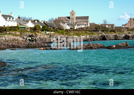 View along the Iona seafront, Isle of Iona, Argyll & Bute (Inner Hebrides), Scotland, UK, Western Europe. - Stock Photo