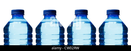 Water bottles isolated on white - Stock Photo