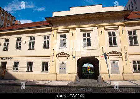 Bredovsky Dvur building housing British Council office Nove Mesto the new town Prague Czech Republic Europe - Stock Photo