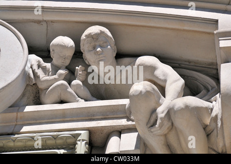 London, England, UK. Detail from facade of Burlington Arcade (added 1931 by Benjamin Clemens) - Stock Photo
