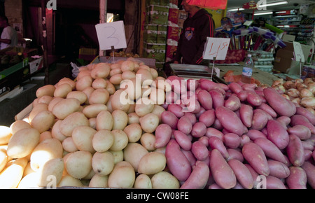 Potatoes for sale in the Carmel Market (Shuk Ha'Carmel), Tel Aviv, Israel - Stock Photo