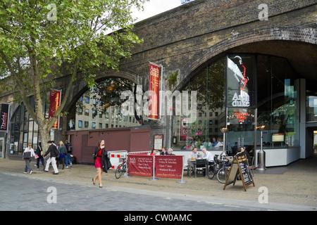 The Archduke wine bar South Bank London UK - Stock Photo
