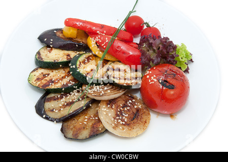 Grilled vegetables in a restaurant - Stock Photo
