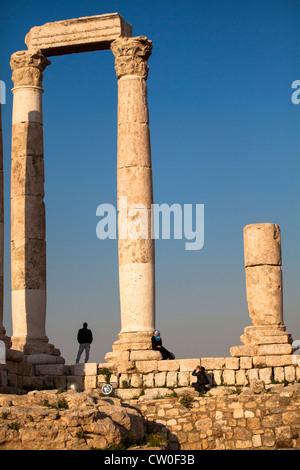 Citadel Amman Jordan Middle East - Stock Photo