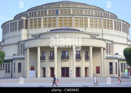 Wroclaw Hala Stulecia Lower Silesia Poland Centennial Hall Jahrhunderthalle Breslau  architect Max Berg - Stock Photo