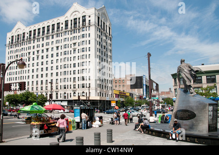 Adam Clayton Powell Monument - Dr Martin Luther King JR Boulevard Harlem New York  Manhattan United States of America - Stock Photo