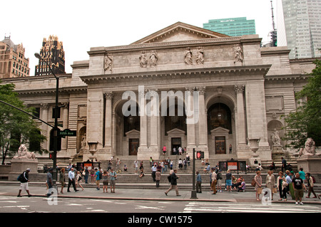 The New York Public Library 5th Avenue United States of America - Stock Photo