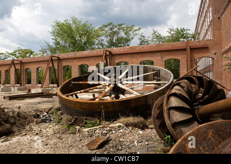 Remnants of Industrial Mills Lowell, Massachusetts - Stock Photo