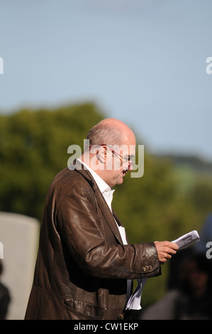 Colm Toibin reading at the 3rd Feis Teamhra at the Hill of Tara, County Meath, Ireland. - Stock Photo