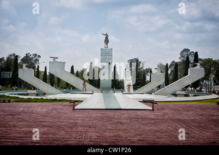 Monumento al General Ignacio Zaragoza in Puebla, Mexico. Ignacio Zaragoza Seguín was a general in the Mexican army. - Stock Photo