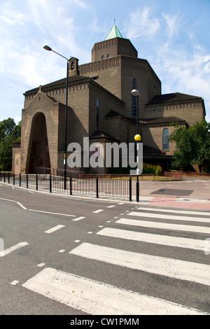 St. Mary and St. Joseph Church, by architect Adrian Gilbert Scott, Upper North Street, Poplar, London, England, - Stock Photo