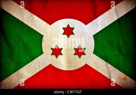 Burundi grunge flag - Stock Photo