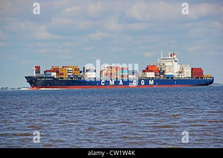 Container Vessel CMA CGM SAMBHAR - Stock Photo