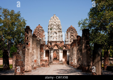 Wat Si Sawai in Sukhothai, Thailand - Stock Photo