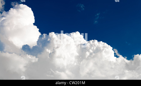 Cloud scape Sky background over the blue sky - Stock Photo