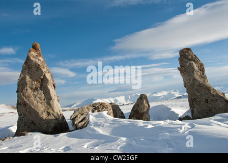 Zorats Karer Basalt columns, Sisian Suyunik, Armenia