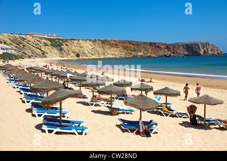 Praia da Mareta (beach), Sagres, Algarve, Portugal - Stock Photo