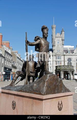 Gordon Highlander's Statue, Castlegate, Aberdeen