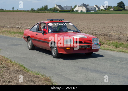Opel Manta GT of 1981 in the Tour de Bretagne near Pordic in the Cotes d'Amor (22) department of France 2012 - Stock Photo