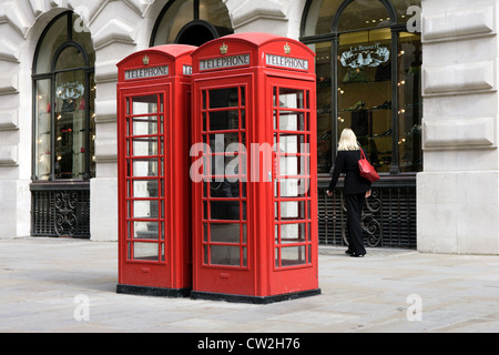 London phone booths - Stock Photo