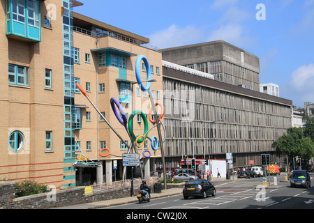 Bristol Royal Hospital for Children and Bristol Royal Infirmary (grey bit), England, Great Britain, United Kingdom, - Stock Photo