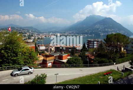 Switzerland, Ticino, Lugano City Facts - Stock Photo