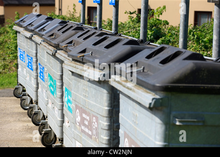 recycling bins waste - Stock Photo