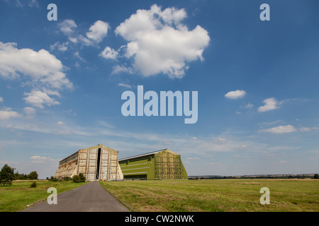 Airship hangars at Cardington, Bedfordshire, base of the R101 airship that crashed in 1930 - Stock Photo