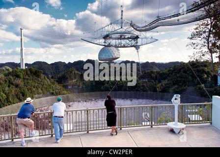 PUERTO RICO Arecibo Observatory.  National Astronomy and Ionosphere Center (NAIC), - Stock Photo