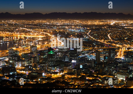 Cape Town city centre at sunrise. Cape Town.South Africa - Stock Photo