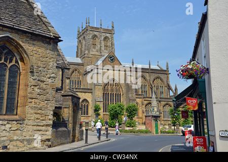 Sherborne Abbey, Sherborne, Dorset, England, United Kingdom - Stock Photo